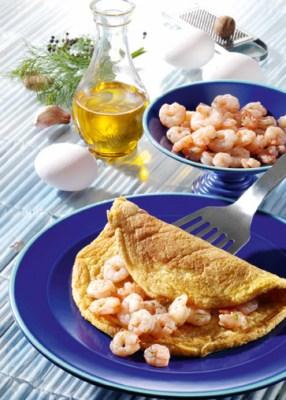 Diät-Rezept: Krabben-Omelette Foto: www.1000rezepte.de