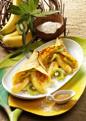 Pfannkuchen mit Honig-Bananen Foto: Wirths PR
