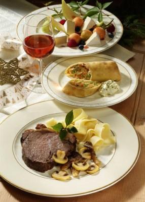 Weihnachtsmenü Rinderschmorbraten mit Pilzen Foto: Wirths PR