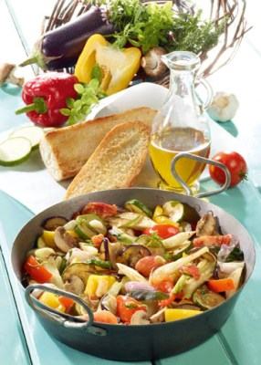Diät-Rezept: Mediterrane Gemüsepfanne Foto: Wirths PR