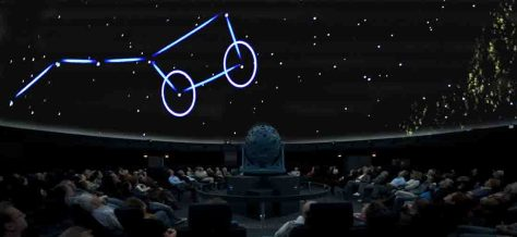 """Ein Astronomischer Vortrag zum Thema """"Sterne über Münster im Winter und im Frühjahr"""" findet im Planetarium des LWL-Museums für Naturkunde statt. Foto: LWL/Oblonczyk."""