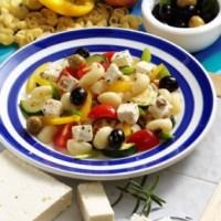 Diät-Rezept: Nudelsalat mit Feta und Oliven