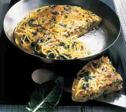 Schnelle Rezepte: Spaghetti-Omelette Foto: Wirths PR