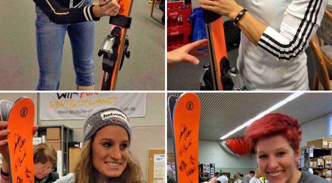 Gold-Maria, Neureuther, Rebensburg und 20 weitere Top-Wintersportstars haben unterschrieben Foto: hr/DOSB