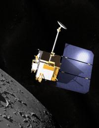 Künstlerische Darstellung des Lunar Reconnaissance Orbiter Foto: Chris Meaney / NASA 2008
