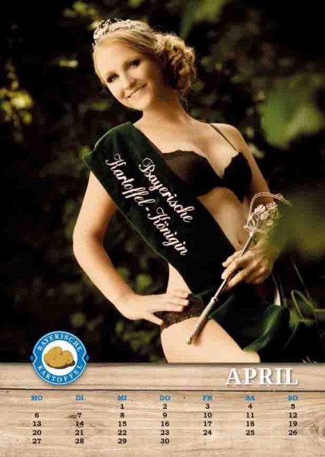 April-Model: Die Bayerische Kartoffelkönigin Kathrin Schoderer. © Karin Heidmeier Fotostudio