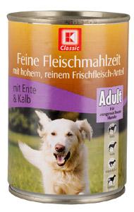 Kaufland/K-Classic Feine Fleischmahlzeit mit Ente & Kalb, AdultNote SEHR GUT (1,4): Besonders günstig