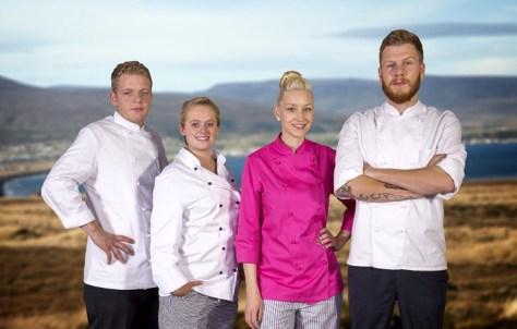 Philipp (20), Caroline (23), Ina (22) und David (23) übernehmen ein isländisches Café im einsamen Nordwesten der sagenumwobenen Insel.  Foto: ZDF/ Ioanna Engel