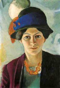 August Macke, Frau des Künstlers mit Hut, 1909 Foto: LWL/Ahlbrand-Dornseif