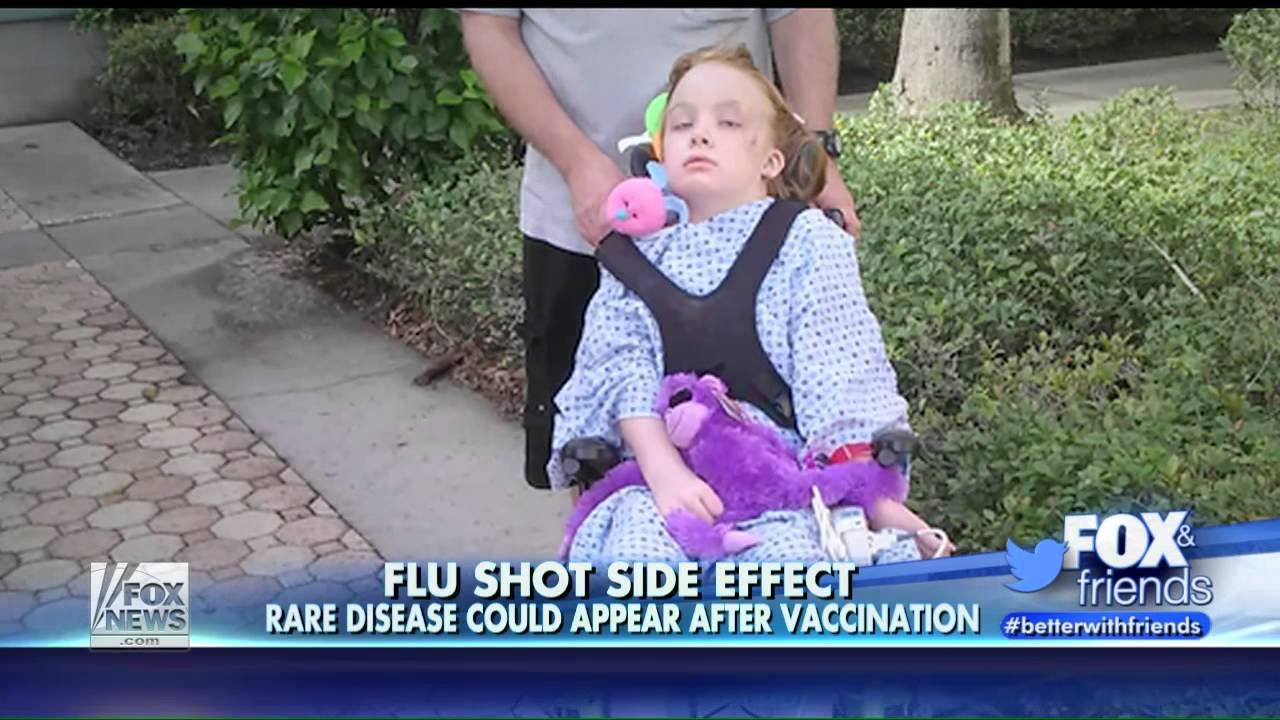 Image result for A healthy, 9-year old Florida girl was paralyzed by the flu shot