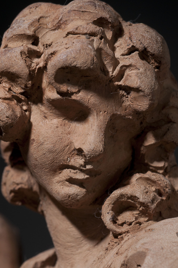 Fig. 5. Gian Lorenzo Bernini, Angel with the Superscription, 1667–68. Terracotta. Detail. Harvard Art Museums/Fogg Museums, Cambridge, Massachusetts, Alpheus Hyatt Purchasing and Friends of the Fogg Art Museums Fund, 1937.67