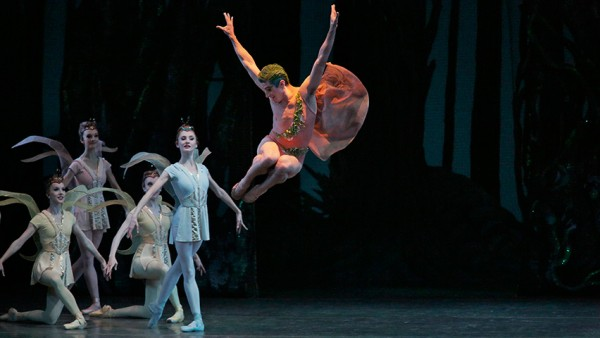 Sean Suozzi as Puck in NYCB's production of A Midsummer Night's Dream. Photo Paul Kolnik.