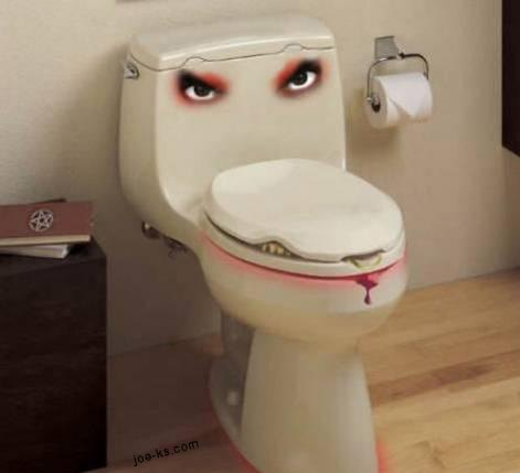 angry toilet