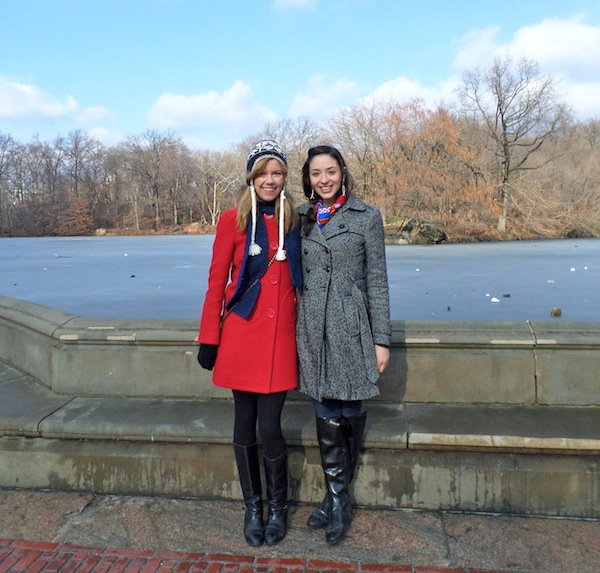 Central Park winter girls