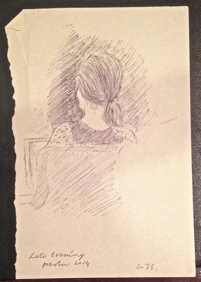 back of head sketch