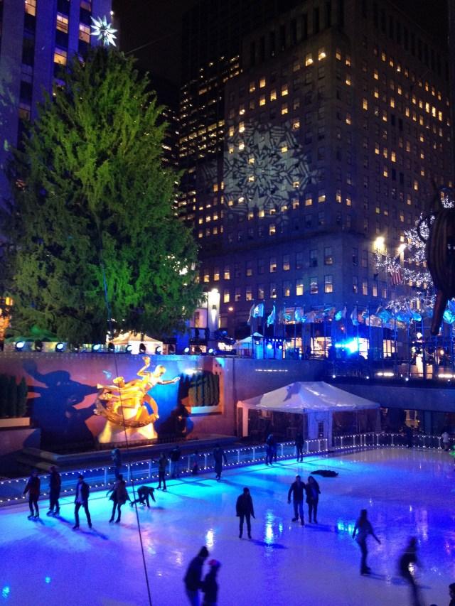 rockefeller christmas tree ice skating
