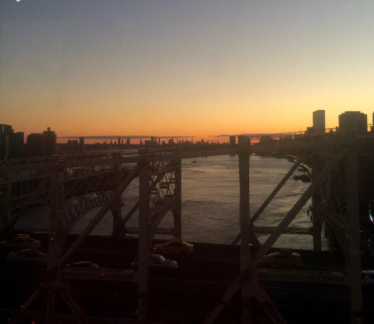Ed Koch Bridge sunset