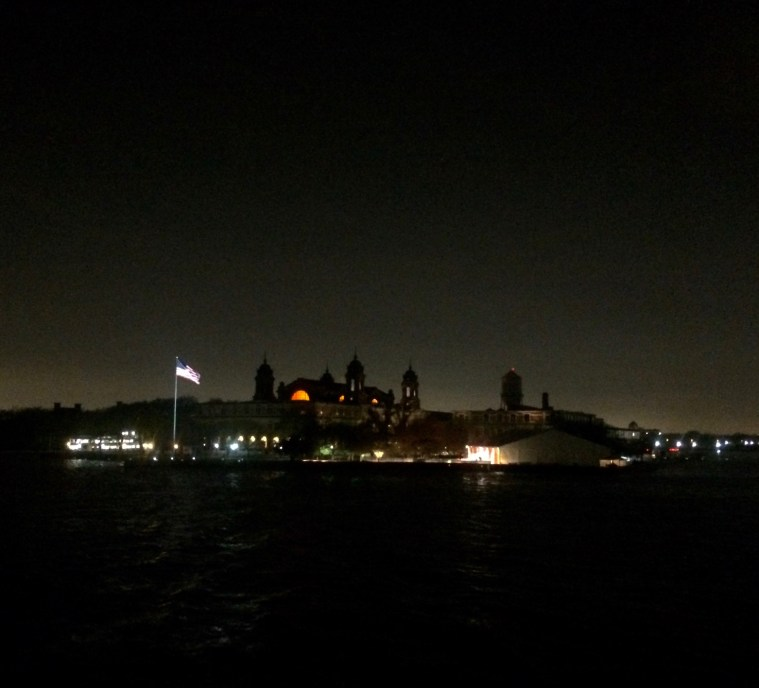 ellis island night