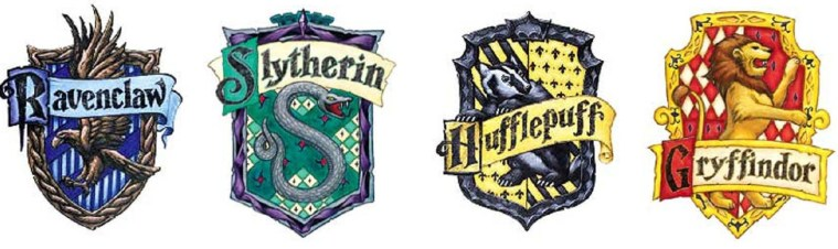 house-crests Harry Potter