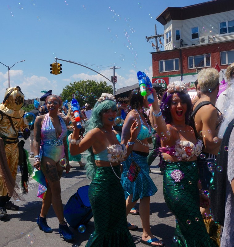 coney island mermaid parade bubbles