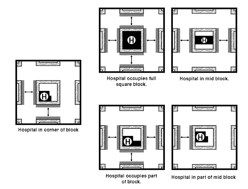 This images shows the location of legal parking spaces for doctors in nyc