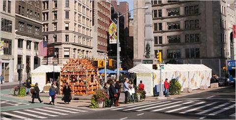 Madison Square food stalls