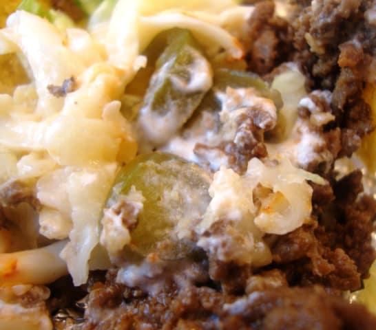 closeup beef