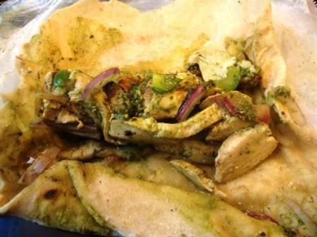open chicken roll