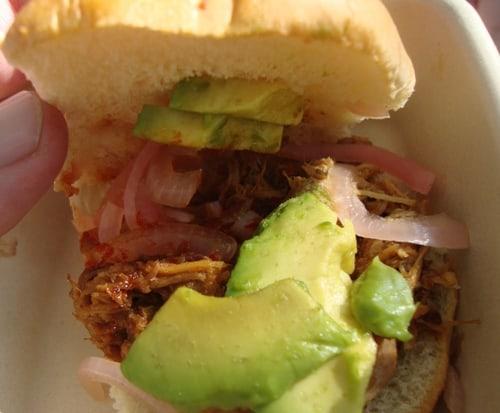 Mexicue pork slider