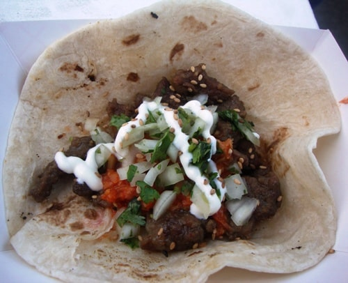Galbi beef taco from The Krave