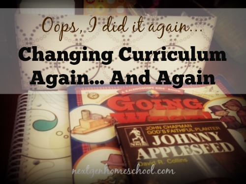 Oops, I did it again! Changing curriculum again... and again