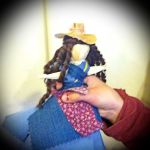 Hands-On Homeschool: Making corn husk dolls