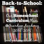Guardian Academy Curriculum Plan, Part 1