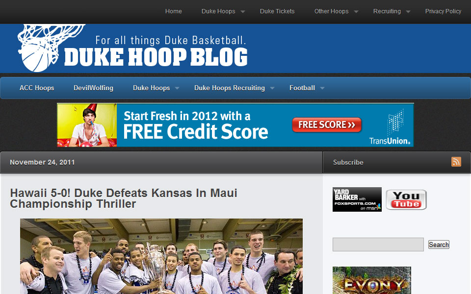 Duke Hoop Blog