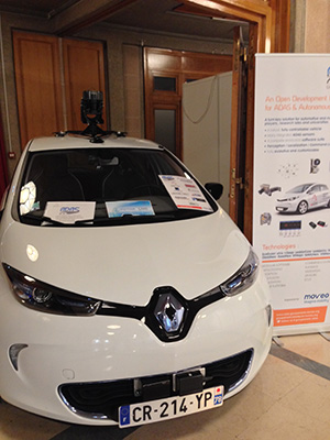 Renault Zoé of Adaccess on booth Groupement ADAS at CESA Automotive 2016