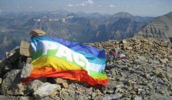 Rainbow Flag on Rainbow Peak