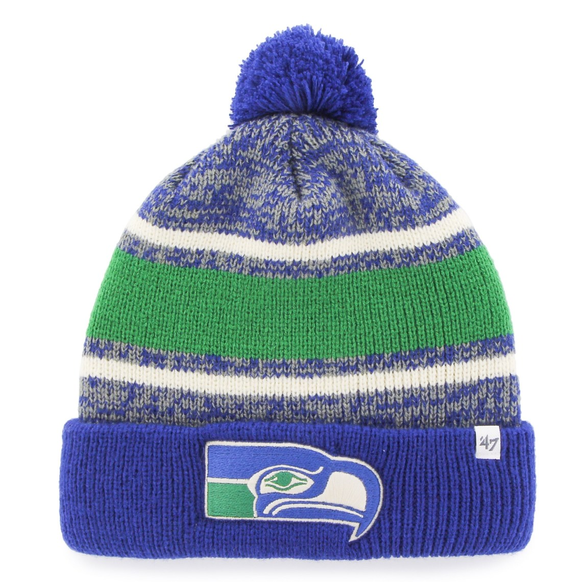 Men's Seattle Seahawks '47 Brand Royal Fairfax Cuffed Knit Hat with Pom