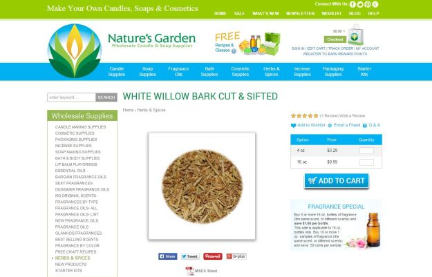 white willow bark page