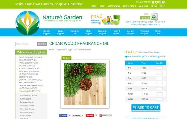 cedar wood page