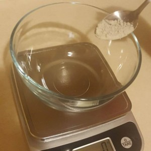 Green Clay Mask Recipe Weigh the Powders and Herb