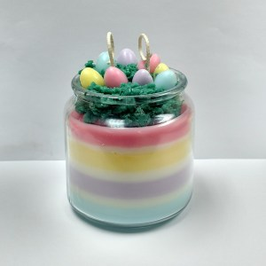 Easter Basket Candles Recipe Done