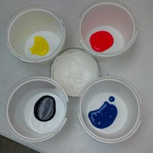 Peeps Cold Process Soap Recipe Preparing the Colorants