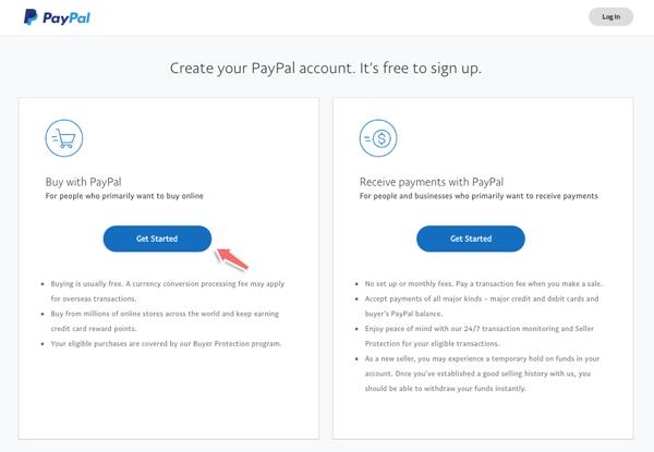 cách đăng ký tài khoản Paypal cho cá nhân