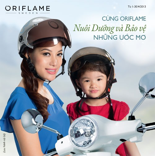Oriflame 4 2013 Helmet 1 thumb Chng tr&igrave;nh &quot;N&oacute;n Bo Him c M Oriflame&quot;