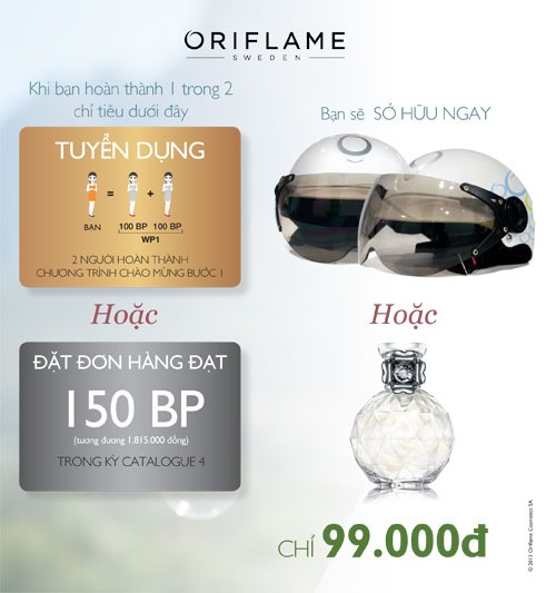 Oriflame 4 2013 Helmet 2 thumb Chng tr&igrave;nh &quot;N&oacute;n Bo Him c M Oriflame&quot;