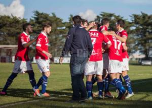 North Geelong celebrate the sealing goal