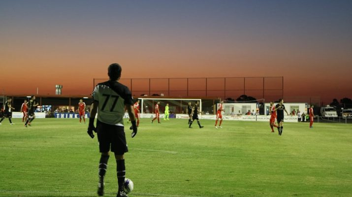 North Geelong's Marko Stevanja in his senior debut. (Photo: Monique Medved)