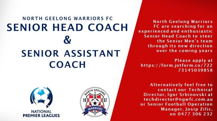 NORTH GEELONG WARRIORS FC 2018 senior head coach