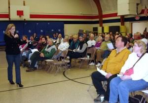 Kimberly Sampson addressing group