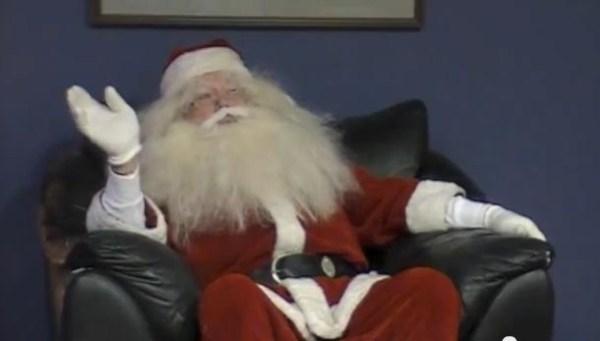 Santa at Hub 2012